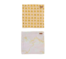 [ABODE] MARBLING & FACE IT BABY NAP WRAPS (2 Pack)