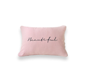 [AB FAB] BEAUTIFUL LETTERING LINEN CUSHION COVER (2 colors)